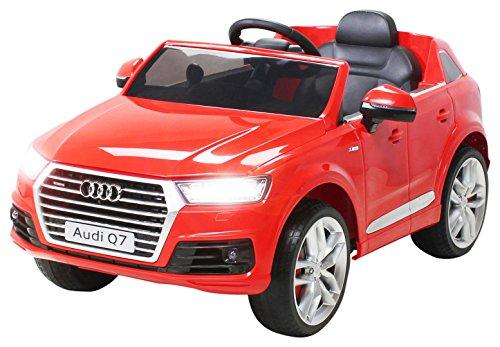 Actionbikes Motors Kinder Elektroauto Audi Q7 4M - Lizenziert - 2 x 45 Watt Motor - 2,4 Ghz Rc Fernbedienung - USB - Mp3 - Elektro Auto für Kinder ab 3 Jahre (Rot)