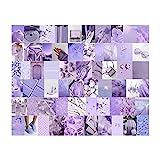 Niktule Kit de collage de pared, kit de colección de postales de póster de fotos púrpura, para adolescentes y mujeres, decoración estética de la habitación, colección de fotos, decoración física