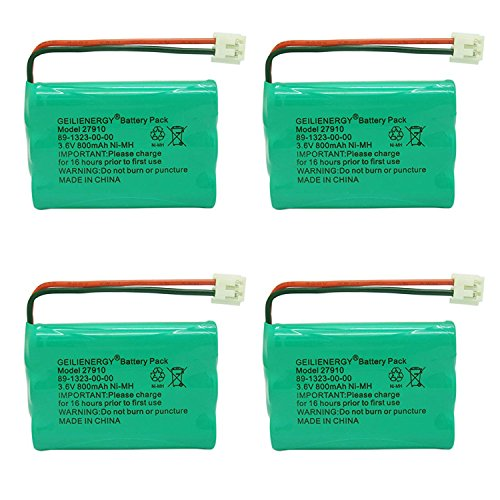 27910 Cordless Phone Battery Rechargeable Compatible with Vtech 89-1323-00-00 AT&T E1112 E2801 TL72108 Motorola SD-7501 RadioShack 23-959 Cordless Handsets(4 Pack)