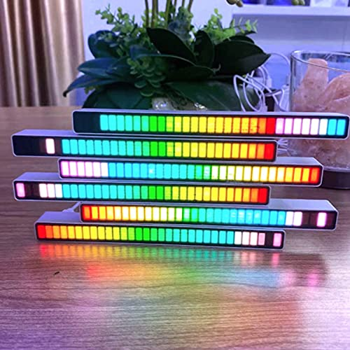 Canrulo New Sound Control Light- Atmosphere Colorful Lights with 32 LED 18 Colors , RGB Voice-Activated Pickup Rhythm Lights, LED Music Spectrum Screen Hanging Lights