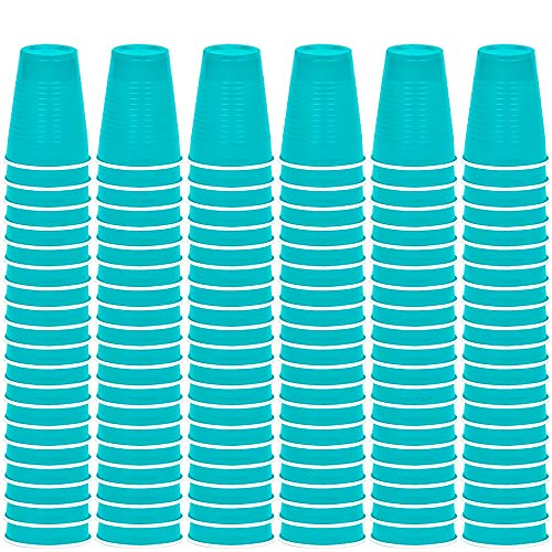 DecorRack Solo Cups 12 oz Reusable Disposable Cups for Birthday Party Bachelorette Camping Indoor Outdoor Events Beverage Drinking Cups (Turquoise, 60)