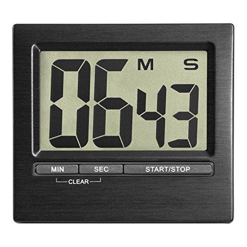 TFA Dostmann 38.2013.01 Elektronischer Timer und Stoppuhr, Kunststoff, Aluminium, Schwarz, 0 cm
