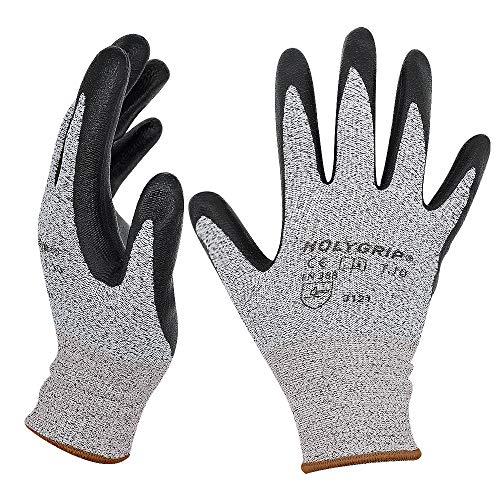 Hochwertige rutschfeste Arbeitshandschuhe Gartenhandschuhe mit Mikroschaum Nitrilbeschichtung, Nahtlose Nylon Strickhandschuhe, Touchscreen Handschuhe mit dehnbarer Passform, 1 Paar – Gr.8 / Large