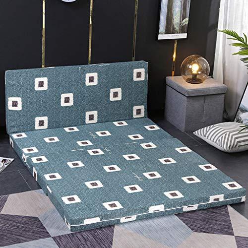 Japanse Fold Futon Matras, vloer matras wasbare cover draagbare dikker schuim Tatami Mat Mattrice voor gast kamer studentenslaapzaal kantoor slaapkussen King(71x79inch) C