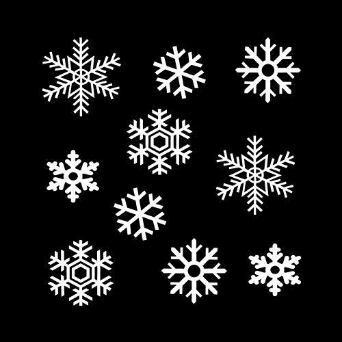 MCTYLI 19,2 * 20,3 cm Mooie winter sneeuwvlok pak voor auto sticker cartoon motorfiets vinyl sticker zwart/zilver