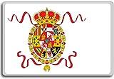 Etiquette's Naval Ensign (1748-1785), Historic Flags of Spain fridge magnet - Calamita da frigo