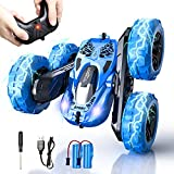 Remote Control Car, SHARKOOL 4WD 2.4Ghz RC Car Stunt Car Toy, High Speed Double Sided Rotating Vehicles 360° Flips, Kids Toy Cars for Boys & Girls Birthday
