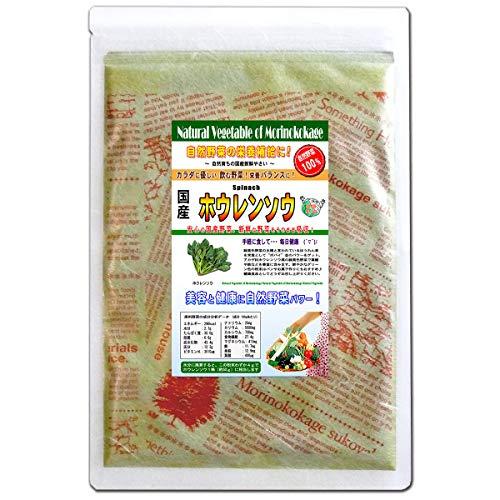 森のこかげ ホウレンソウ 国産 野菜 粉末 パウダー 100g 売筋粉