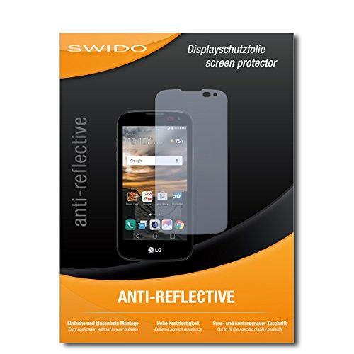 SWIDO Bildschirmschutz für LG K3 [4 Stück] Anti-Reflex MATT Entspiegelnd, Hoher Festigkeitgrad, Schutz vor Kratzer/Glasfolie, Schutzfolie, Bildschirmschutzfolie, Panzerglas Folie