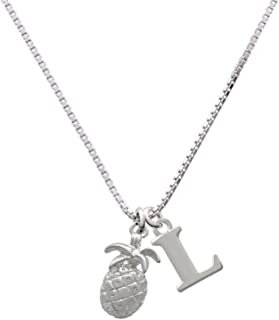 Pineapple - Capital Initial Necklace