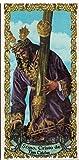 Cristo de las Tres Caídas de Triana (Sevilla). Azulejo fabricado artesanalmente para decorar. Cerámica para colgar. Calca cerámica (7x15 cms)