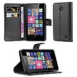 Cadorabo Coque pour Nokia Lumia 630/635 en Noir DE Jais – Housse Protection avec...