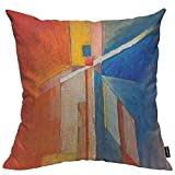 HOSNYE Oil Painting Cotton Linen Throw Pillow Case A Study for an Abstract Pillow Cushion Covers Home Sofa Decorative 18 X 18 Inch