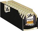 Sheba Sauce Spéciale – Edles Nassfutter Frikassee mit Pute und Gemüse für ausgewachsene Katzen – 22 x 85g Katzennahrung in der Schale