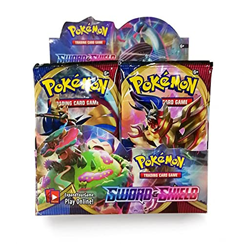 Tarjeta De Pokemon 324 Piezas 36 Tarjetas De Juego De Intercambio La Mejor Opción para Principiantes (Color : Sword+Shield)