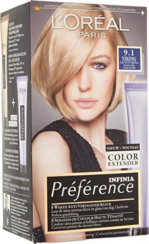L'Oréal Paris Préférence 9.1 - Very Light Ash blond - Haarfärbemittel mit Farbe Extender