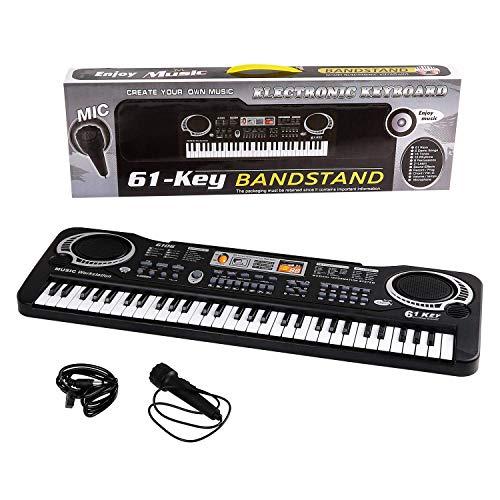ammoon Tastiera Piano Elettronico Hand Roll Up Portatile Silicio 61 Keys USB con Batteria Integrata Agli Ioni di Litio e Altoparlante