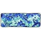EElabper Toalla de Yoga Microfibra Sudor Absorbente Yoga Estera Toalla Antideslizante Transpirable Yoga Manta Verde