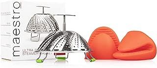 Stainless Steel Vegetable Steamer Basket: Food Steaming Insert Fits Standard Pot or Pressure Cooker