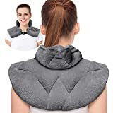 Microwavable Heating Pad, Heated Neck Wrap for Neck Shoulders and Back Dry/Moist Pain Relief for Back, Joint, Cramps, and Arthritis, Sports Injuries, Ultra Soft Flannel