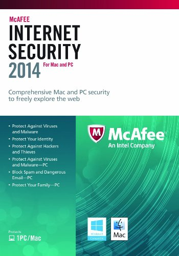 McAfee Internet Security 2014 - 1 User - 1 Year [import anglais]
