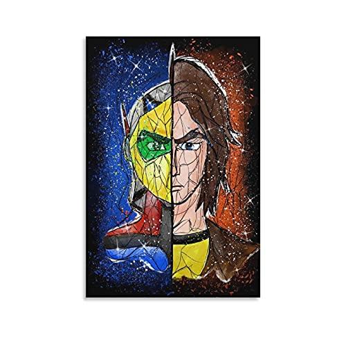 Goldorak - Impression sur toile d'animation japonaise - Décoration murale moderne - 30 x 45 cm