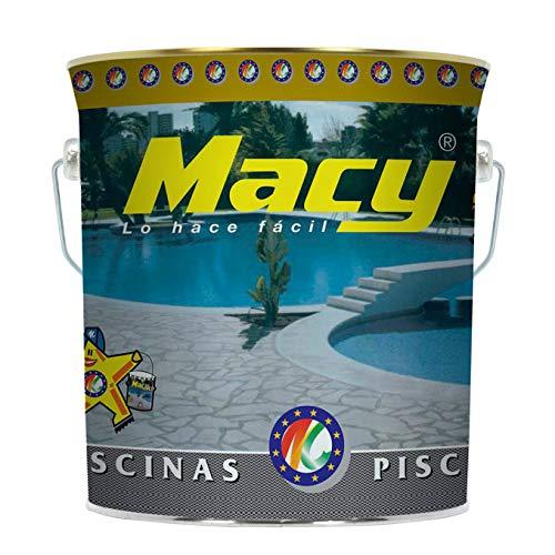Macy - Vernice per piscine ad acqua, 4 litri, colore: blu