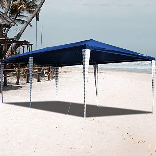 VINGO Pavillon 3x6m Wasserdicht Ohne Seitenteile Blau Partyzelt Gartenzelt UV-Schutz für Garten Markt Camping Hochzeiten Festival