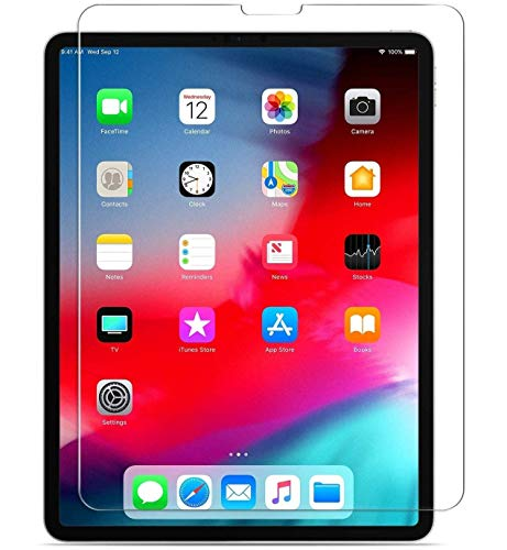 M.G.R.J® HD Clear 9H Hardness Tempered Glass for iPad Pro 11 2018, 2020 Work with (Face ID and Pencil Support)