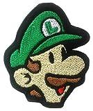 Luigi parche (3,5pulgadas) hierro bordado/coser insignia disfraz de apliques, diseño de Mario Kart/SNES/Mario mundo/Super Mario Hermanos/Mario Allstars