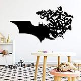 Tianpengyuanshuai Moda murciélago decoración del hogar calcomanía extraíble Etiqueta de la Pared Papel Tapiz 42X72cm