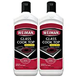 Weiman Glass Cooktop Heavy Duty Cleaner & Polish - Shines and Protects Glass/Ceramic Smooth Top Ranges with its Gentle Formula - 15 Oz., Pack of 2