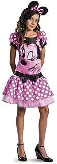 Disguise Disney Girls Pink Minnie Mouse Kids Halloween Costume