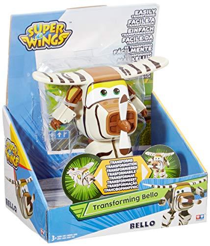 Alpha Animation & Toys- Super Wings YW710270 Transforming Bello Flugzeug, marrón, color blanco (