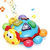 INTMEDIC Baby Musical Toy, English & Spanish Toddler Learning Toys with Light Sound Music Electronic Educational Interactive Toy Gift for 12 Months, 1, 2 3 Year Olds Baby Boys Girls Kids