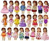 ZITA ELEMENT 6er Fashionistas Puppen Kleid Kleidung für Puppe Kleider Bekleidung Mädchen Spielzeug Minipuppen Abendkleid -