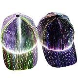 NanXi LED Luminoso Gorra de béisbol Unisex 7 Colores Glow Sombrero 5 Modos se Pueden Ajustar DJ Enciende para Arriba del delirio de Hip Hop del Casquillo para conciertos, Fiestas, Bares,Negro