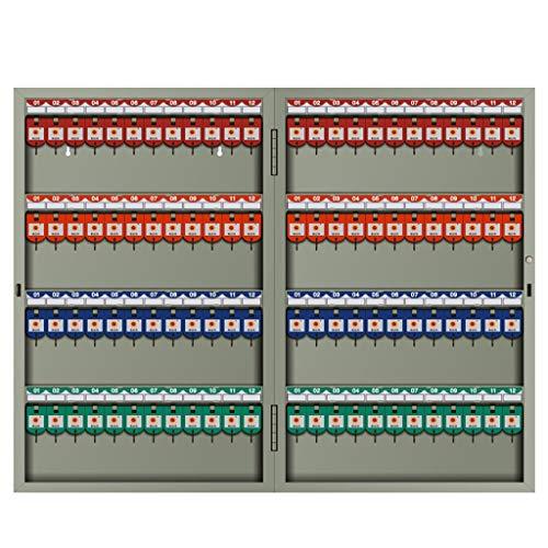 ALXLX Wand Befestigten Sicherheitsschlüssel Speicherschrank Mit Umbauten, Abschließbare Metallkasten for Ersatzschlüssel for Property Management Company Home Office (Size : 96key)