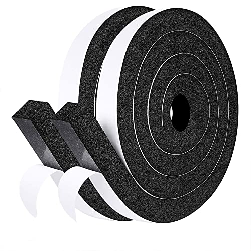 fowong Open Cell Foam Seal Tape 2 Rolls, 1