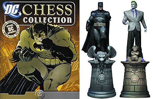 DC Comics - Figuras de Ajedrez de Resina DC Comics Chess Collection Especial Batman & Joker