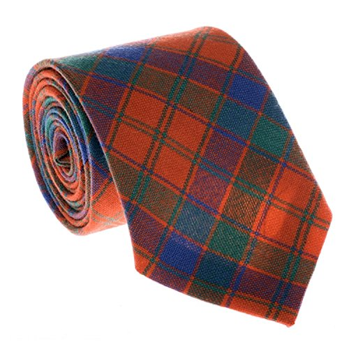 Robertson Cravate Motif tartan Rouge