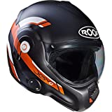 Roof Casque de moto Desmo Reverso orange/noir mat, - Matt Black Orange, S