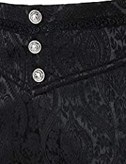 VATPAVE Mens Gothic Pants Cosplay Costume Trousers Steampunk Victorian Pants Large LP05 Black #3