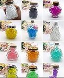J&J – Paquete de 55 – 60 g, 12 Colores Diferentes Perlas de Agua Gel Perlas de Agua Cristal Gel Terreno Gelatina Perlas jarrón para decoración Boda Navidad jardín Cocina salón