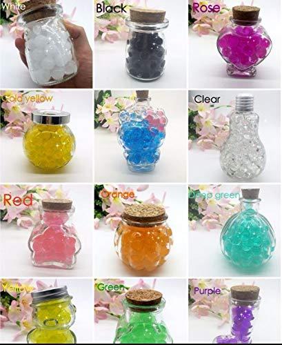 J&J Confezione 55-60g 12 Colori Differenti Perline di Acqua Gel Perle di Acqua Cristallo Gel Terreno Gelatina Perline Vaso per Decorazione Matrimonio Natale Giardino Cucina Soggiorno