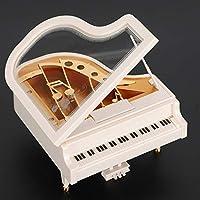 ピアノオルゴール、デスクデコレーション、パインウッドタイプの環境保護ミュージシャンの音楽を愛する家族のための絶妙な技量