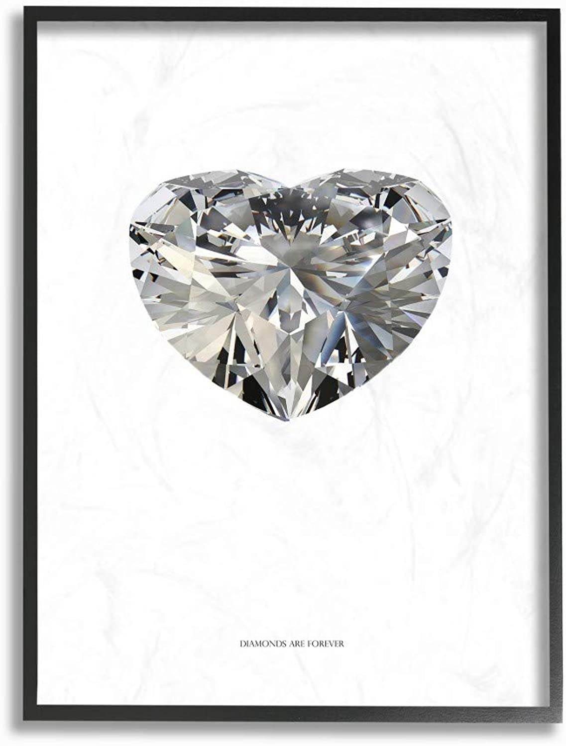 The Stupell Home Decor Collection Diamonds are Forever Minimal Framed Giclee Art, 16x20, Multicolor