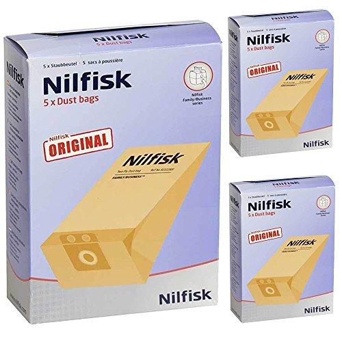 Genuine Nilfisk GD1000Series Filtro de aspiradora bolsas Dual (15unidades)