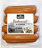 Delikatess Schäldarm Bockwurst frisch, zart & knackig | Würstchen geräuchert | Ideal für Curry-Wurst Premium-Qualität 8 x 100g