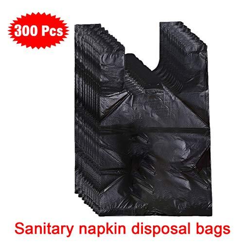 Icecode Einweg-Hygienebeutel, 300 Stück, für Damen, persönliche Einwegbeutel, Schwarz